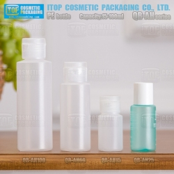 QB-AH Series 15ml 25ml 60ml 100ml color customizable eco-friendly recyclable squeezable round soft plastic ldpe bottle