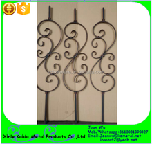 Indoor Satin Black Powder Coated Wrought Iron Scroll Balusters Wholesale