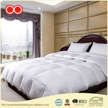 Logo Printed 100% Cotton Inflatable Plain Luxury Hotel Down Comforter White Goose Down Duvet