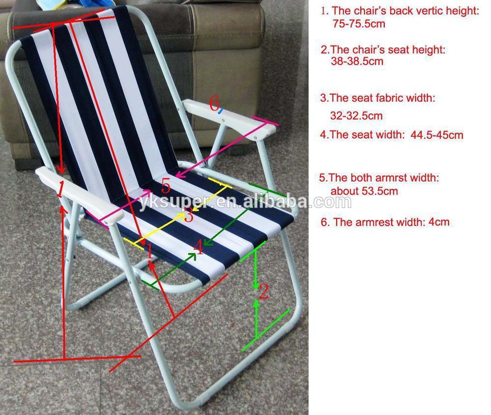 Gros tissu preuve de l'eau en plein air pliable chaise de jardin pliante chaise de plage