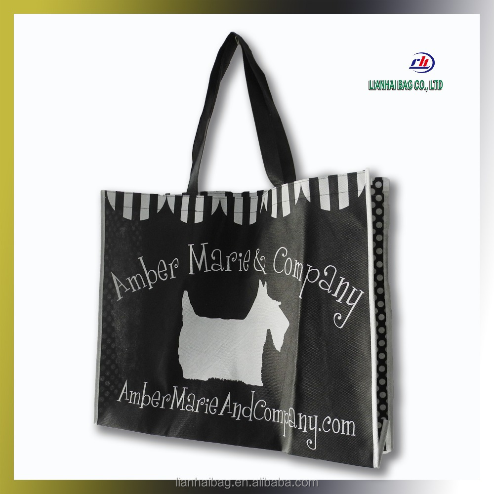 hot stamping logo non woven tote bags for packaging