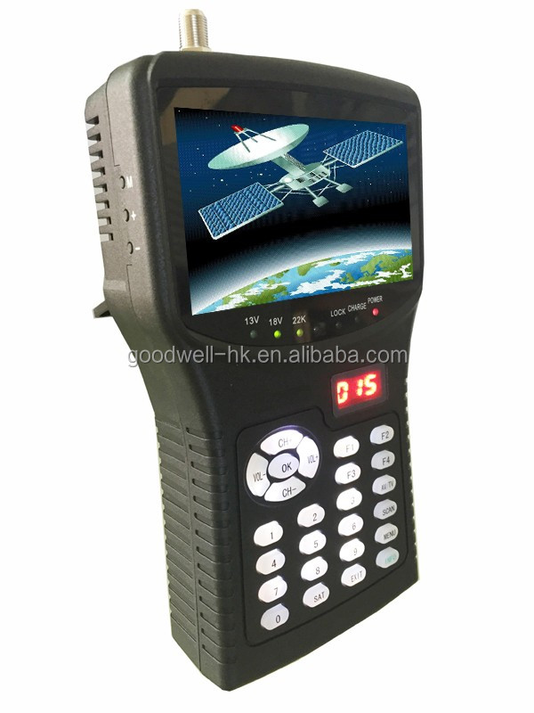 "255H+TVI 4.3"" Portable Digital Satellite Signal Finder Meter Built in Battery"