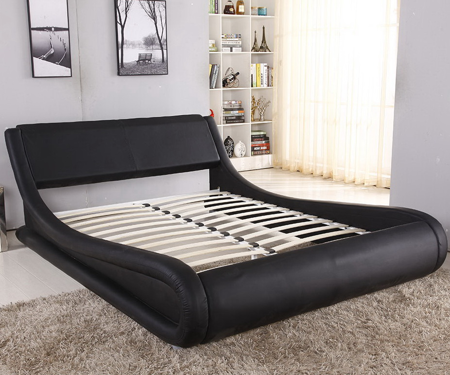FASHION BEDROOM FURNITURE DOUBLE LEATHER BED