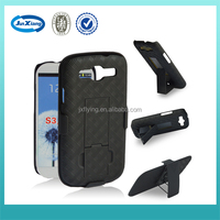 Hard shell plastic holster with sliding case for samsung galaxy S3