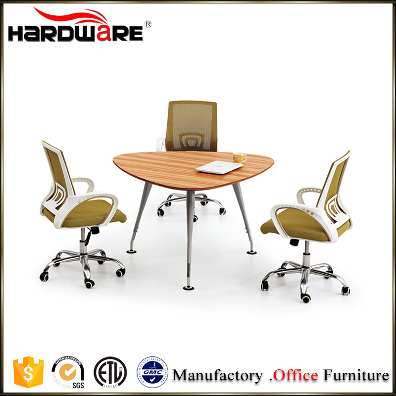 2016 hot sale triangle style melamine office reception table