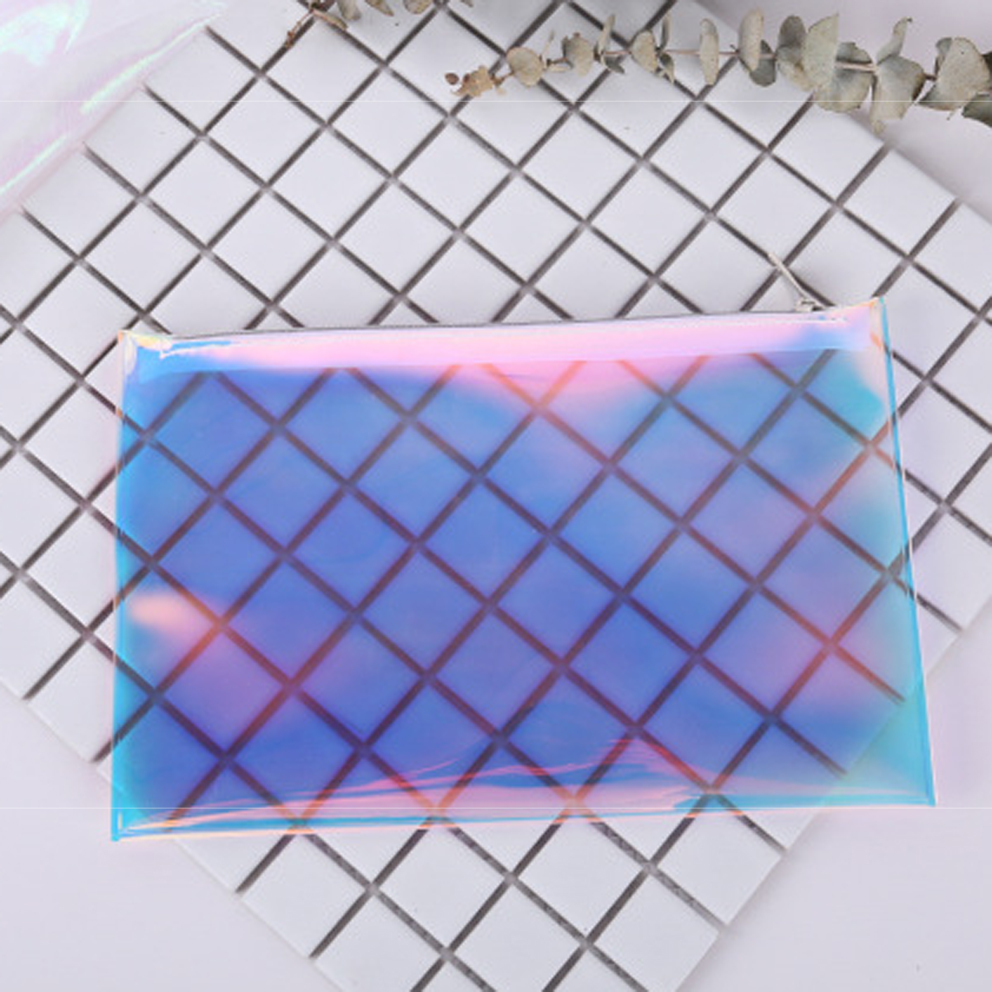 Fashion Laser waterproof clear transparent PVC make up pouch