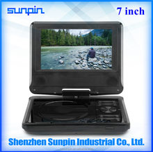 270 degree swivel screen 7 inch Portable DVD Player for parents