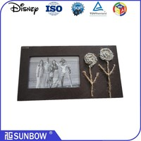Low Price Handmade Customize Size Flower Wood Picture Frames