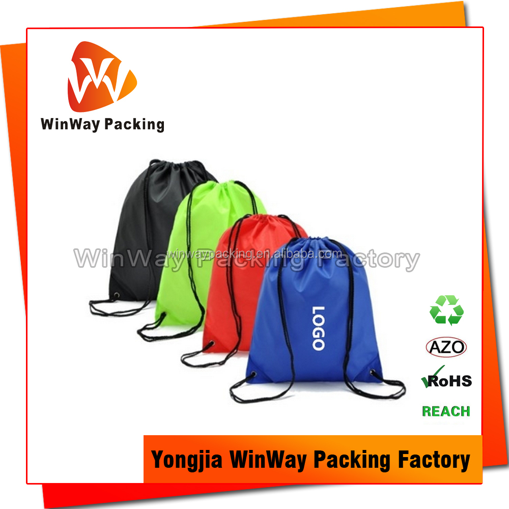 Reusable Waterproof Drawstring Polyester Shopping Bag