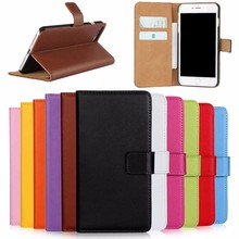 2017 Magnetic Wallet ID Card Case Stand Pure Color Genuine flip Leather case Cover For iPhone 7
