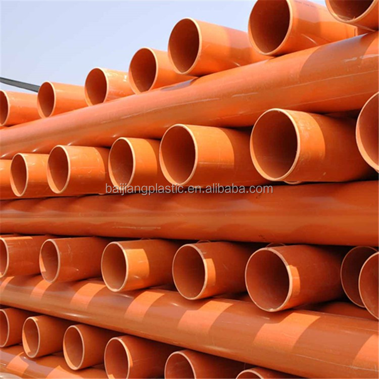 BAIJIANG 200mm PVC Electrical Conduit Casing Pipe