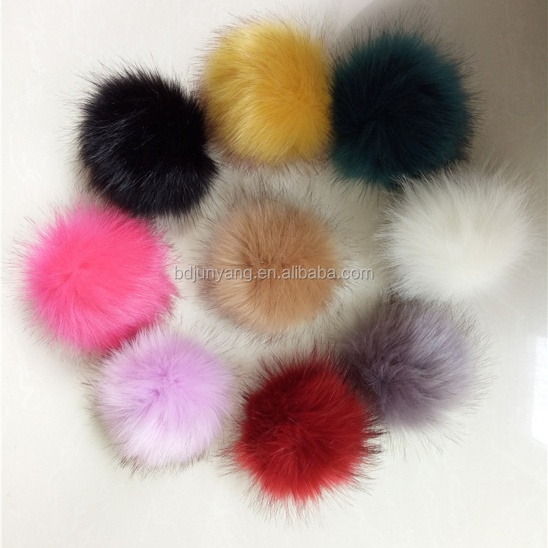 Factory supply 5cm faux fur pom poms small size for decoration fake fur ball