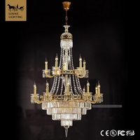 Baroque 20 Lights Bronzed wedding centerpiece Candle chandelier lighting crystal