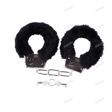 Laurieshop New hot Adult Fuzzy Furry Soft Metal Handcuffs Novelty Gift Hen Night Party Sexy Game Funny