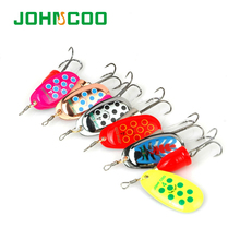 JOHNCOO Spinner Metal Spoon NO2-NO5 Fishing Lures Set Spinner Baits CrankBait Bass Tackle Hook