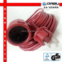 Rubber plug IP44 Pvc Three Core Cable With Waterproof Label