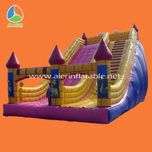 Western theme industrial rocket inflatable water slide