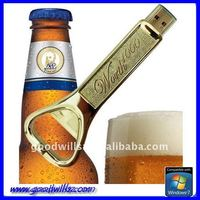 fashion bottle opener usb flash disk free logo