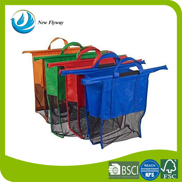 Reusable Foldable Non-woven Fabric Grocery Cart Shopping Trolley Bags