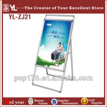 New Product double sign Wholesale Display Board, Poster Board Stands Display Stand, poster frame