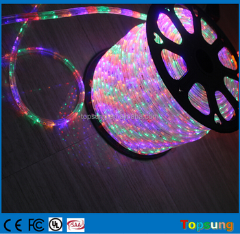 "TOP 9: Color changing 3 wire RGB clear LED Rope Lights 1/2"" round 100meter spool"