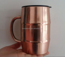 500ml double wall stainless steel beer mug ,16.9 oz insulated stainless steel barrel mug ,copper plated beer mug