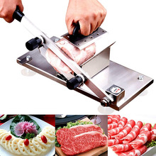 Meat Slicer, Manual Frozen Meat Slicer Stainless Steel Beef Mutton Slicing Machine, Roll Meat Vegetable Meat Cheese Food Slicer,