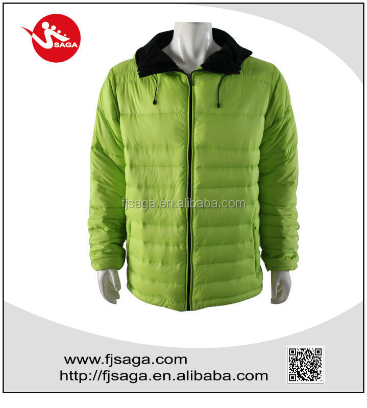New fashion customized outdoor man down jacket with hood,winter coat