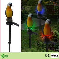Parrot birds led solar stake light for garden decor ourdoor lights