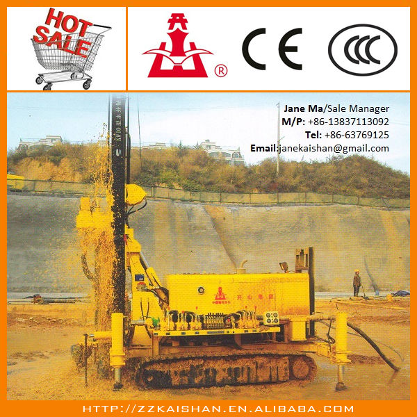 Kaishan KW10 Crawler Small Rock Water Well Drilling Machine can Drill 120m deep
