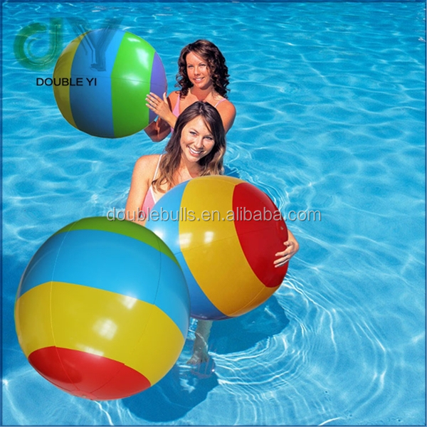"Custom wholesale top quality Round Multi-Color Promotional Beach Ball - 16"" beach balls 48"