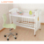 Adjustable natural picture luxury new born infant girls sleeping baby wooden bed