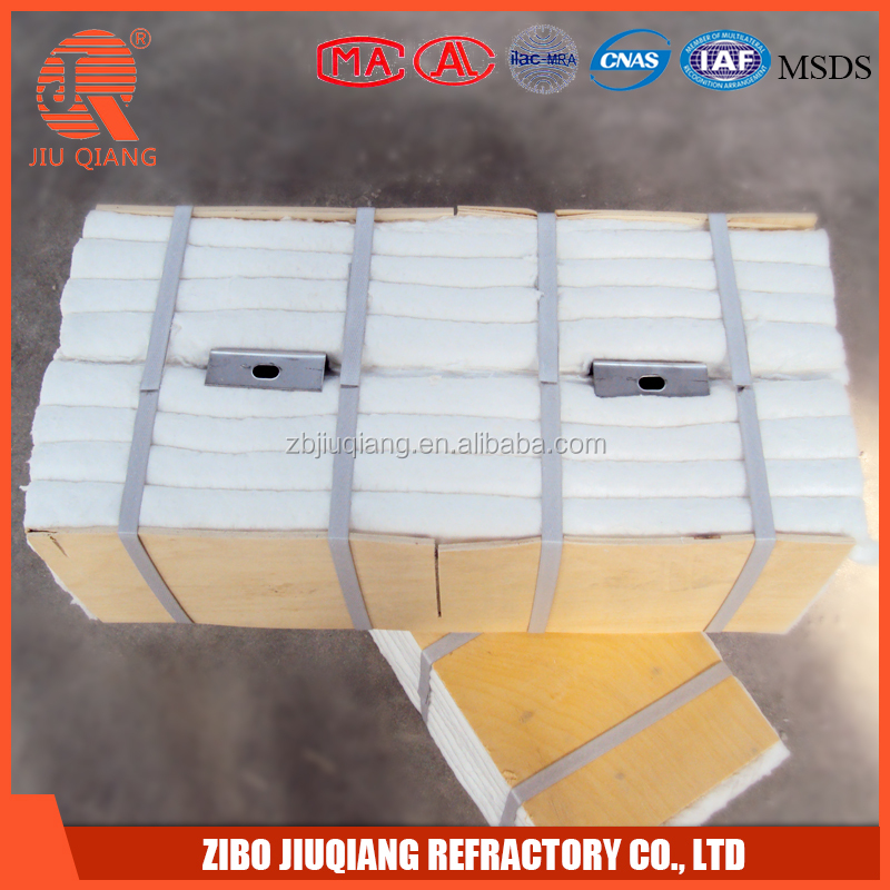 hs code insulation materials ceramic fiber module for metal furnace lining