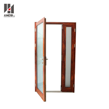Commercial exterior double swing aluminum glass entry doors