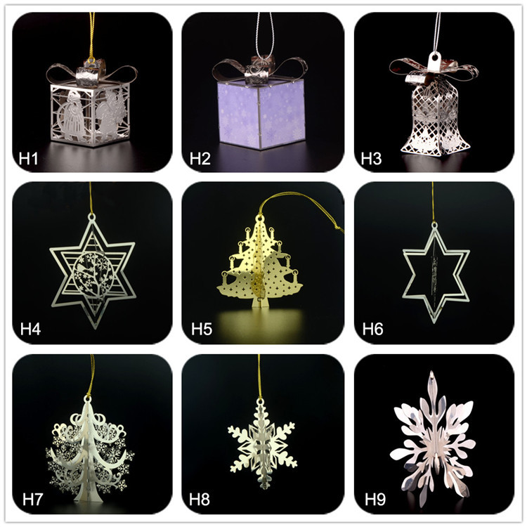 Shenzhen customized brass snowflake christmas tree scarf pendant