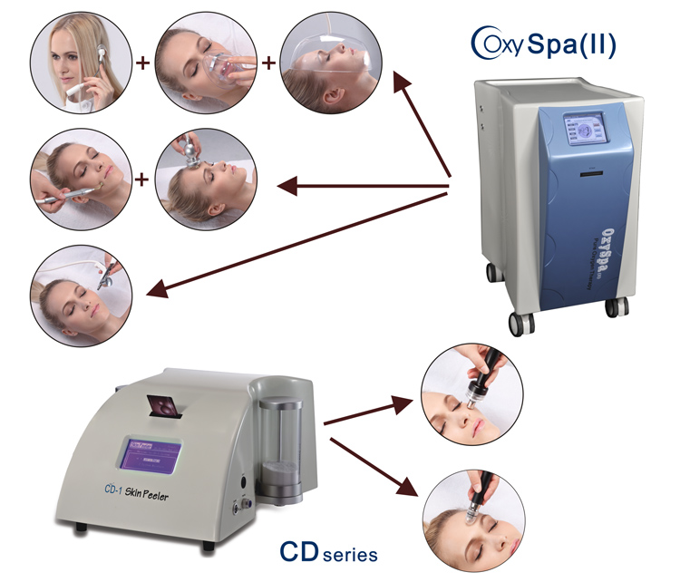 Professional hydro facial machine water oxygen therapy face jet peel machine/Skin diamond dermabrasion machine