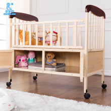 Manufacturer Wooden Swing Cradle Baby Cot Bed With Storage Space