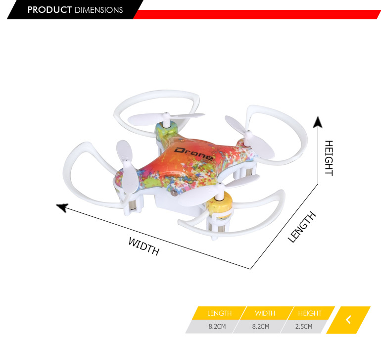 2017 hottest products 4CH 2.4GHZ gyro 360 degree rotation mini race drone for wholesale