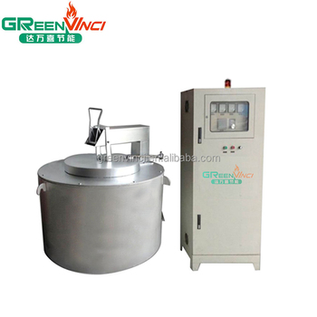 60-160 kg per hour melting capacity crucible aluminum electric resistance melting furnace