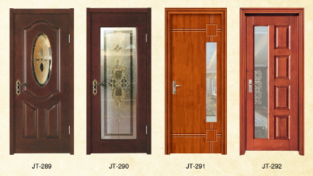 New design fiber glass solid wood doors