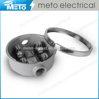 METO 100A Die-casting Aluminum Electrical Single Phase Round Meter Case for Powe Meter