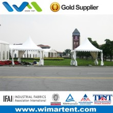 3mX3m White Aluminum PVC Pagoda Tent For Retail Shop