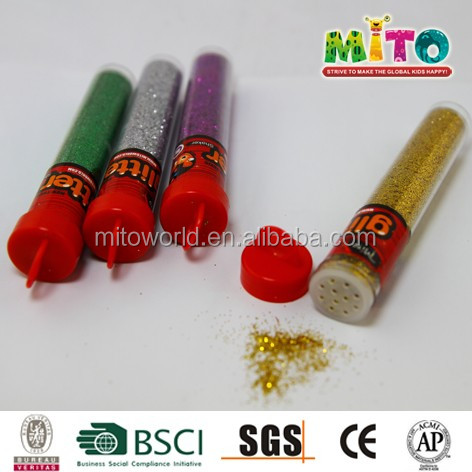 top grade glitter powder tube for painting
