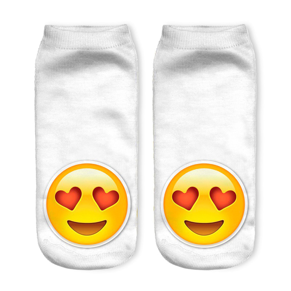 New 3D Printed Emoji Women Socks Wholesale Cute Low Cut Ankle Sock Multiple Colors Fashion Style <strong>W163</strong>