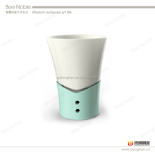 elegant and romantic Ceramic High Quality Chocolate Fondue Warmer with jacket shape for cheese and chocolate promotion