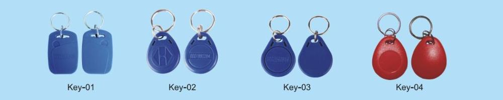 125KHz RFID Key Fob Chain Token Tag Proximity Entry Door Access Blue