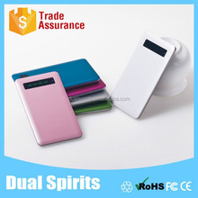 2015 New Promotional LCD Touch Screen Aluminium Shell Slim Power Bank 5000mah