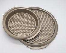 Yongkang non stick carbon steel round pizza pan/cake pan for bakeware