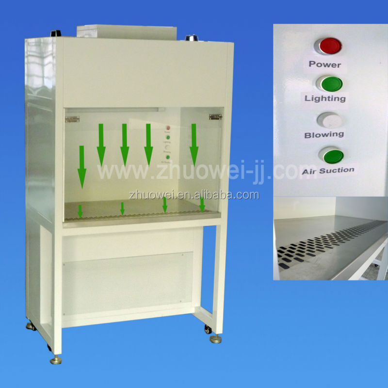Vertical laminar flow/clean bench with hepa filter