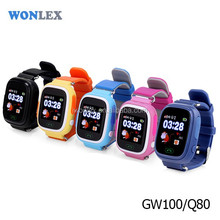 2017 WONLEX newest Silicone wrist GPS kids tracker watch mobile phone